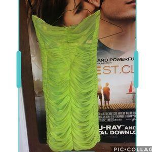 Neon Green BeBe Dress